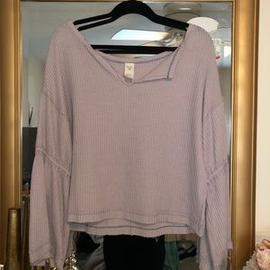 Free people cropped thermal top